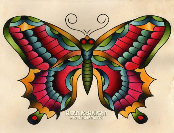 traditional butterfly watercolor
