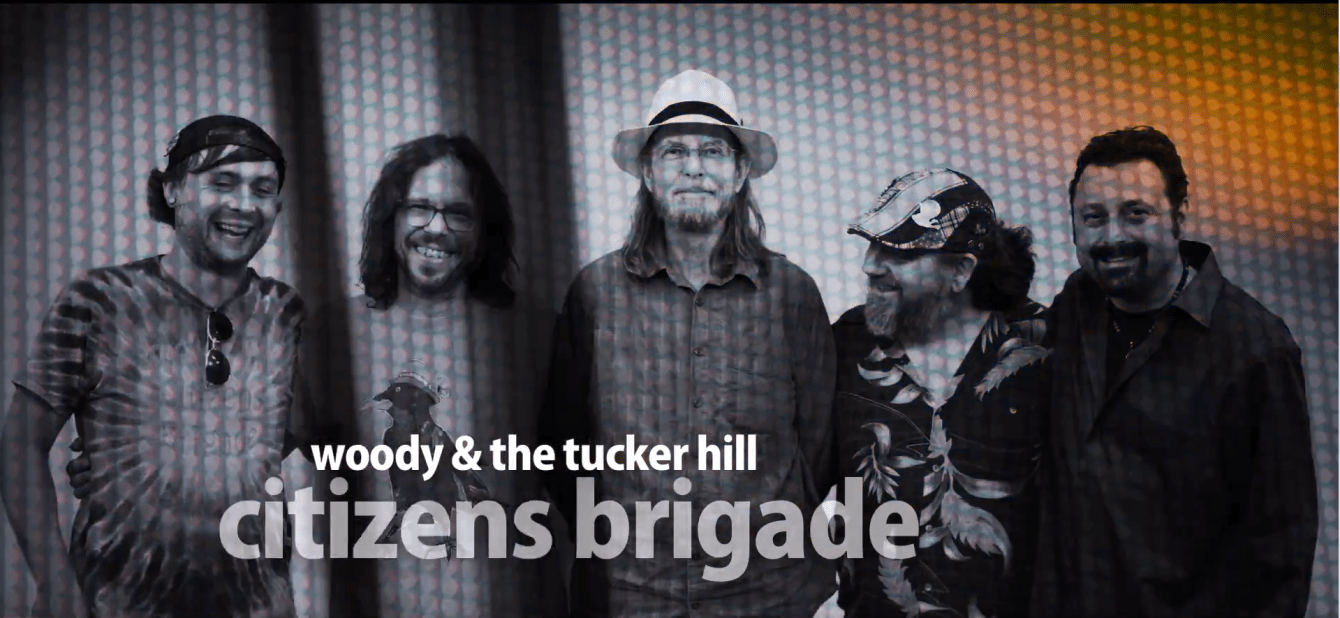 Norfolk, Nebraska's Woody & The Tucker Hill Citizens Brigade smile after performing at The White Wall Sessions