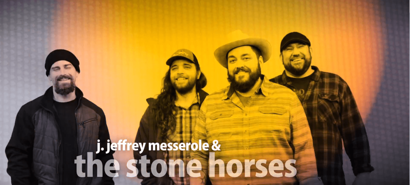 Cherokee, IA's J. Jeffrey Messerole & The Stone Horses smile for the camera