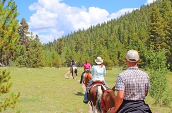 Family vacation ideas in Colorado: Horseback riding.