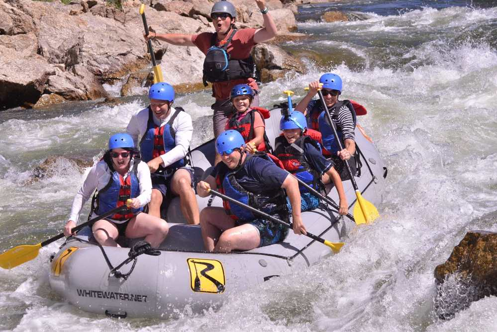 Beginner rafting trips in Colorado.