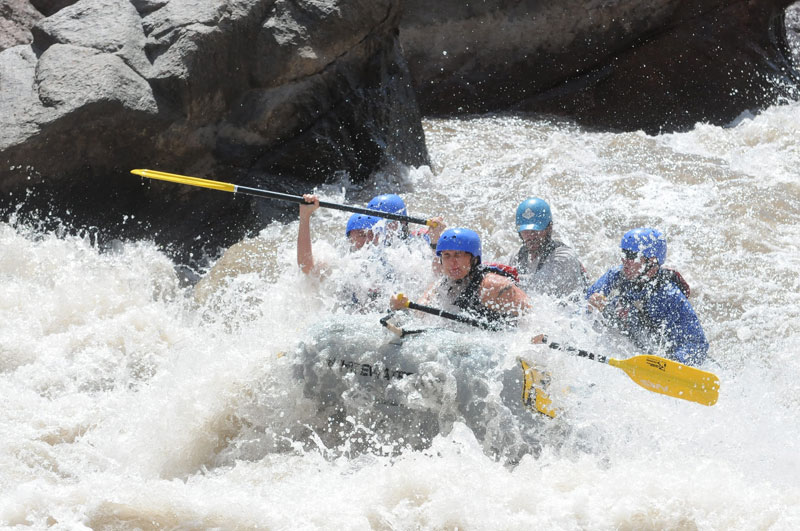 White water rafting in the Royal Gorge.