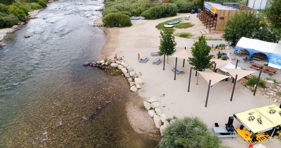 Riverside event space near Buena Vista, Colorado.