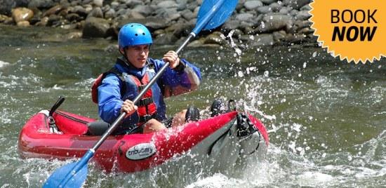 Inflatable kayak tours in Buena Vista, Colorado.