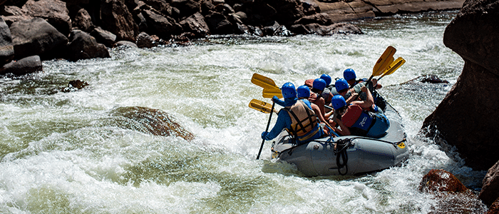 Rafting near Colorado Springs.