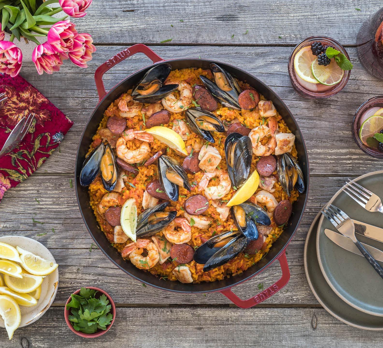 Grilled Spanish Paella