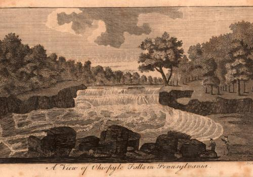 A view of Ohiopyle Falls, in Pennsylvania (1787)