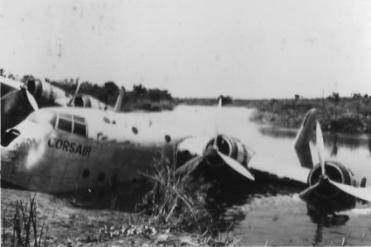 ADVB Corsair crashed at Faradge