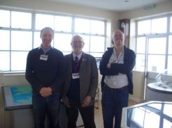 Members of Croydon Airport society in the control tower