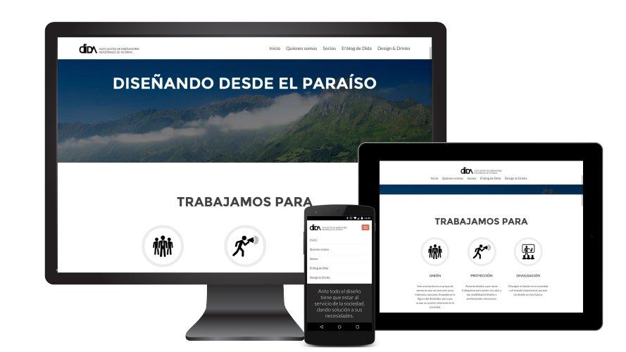 Diseño web responsive DIDA - Asociacion Diseñadores Industriales de Asturias