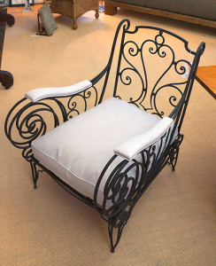 French Wrought Iron Club Chair