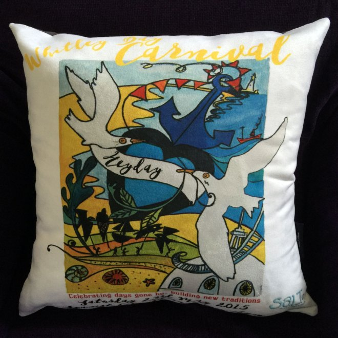 Whitley Bay Carnival 2015 Cushion