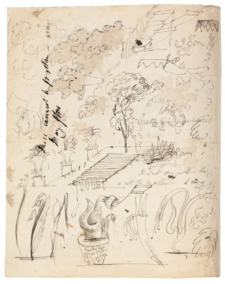 Shelley Doodling Drawings next to _fragments To William S _ To Fanny