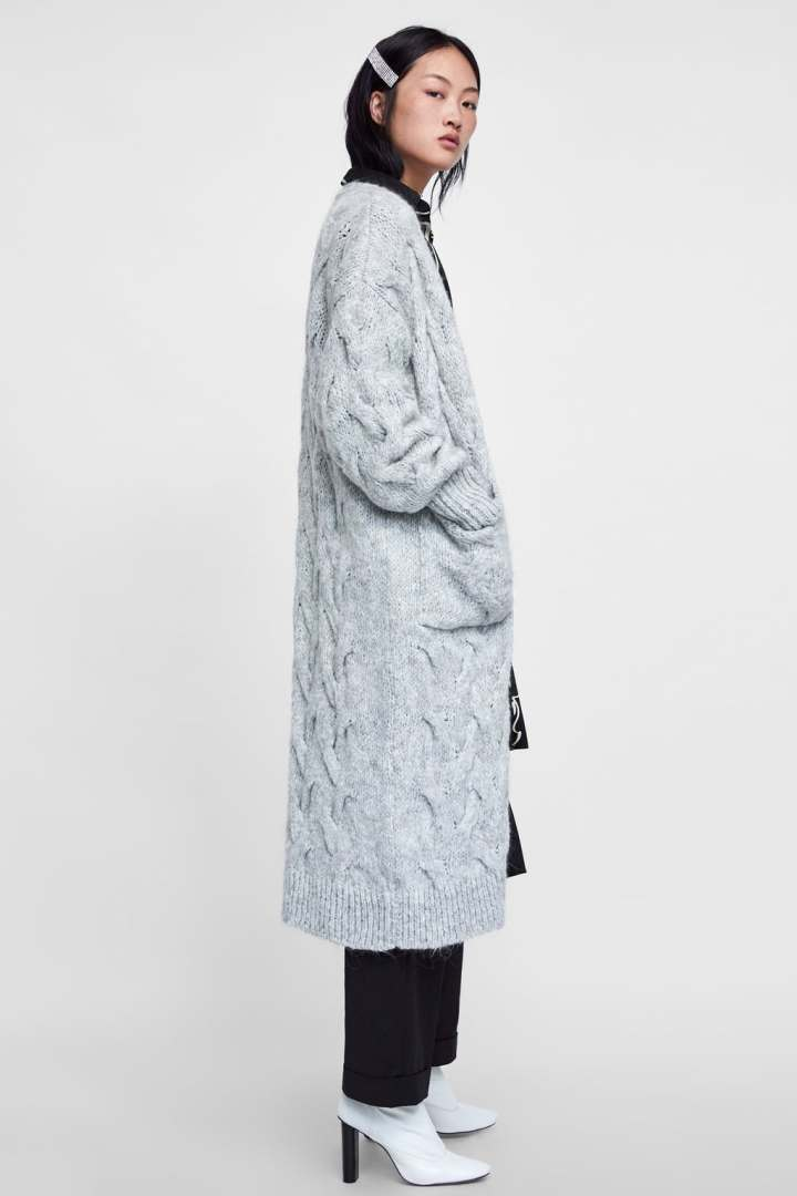 ZARA - CABLE KNIT COAT