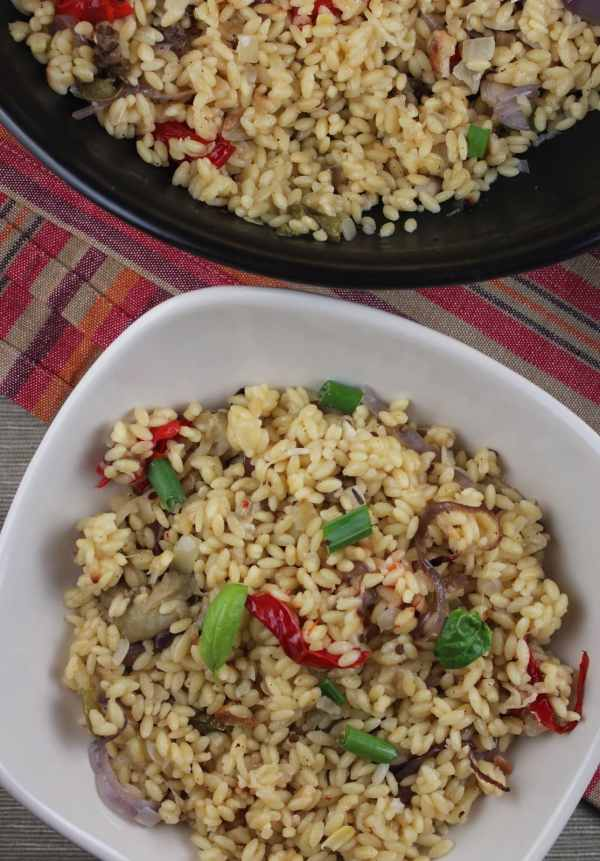roasted vegetable orzo, creamy orzo recipe, risotto style orzo, creamy vegetable orzo, roasted vegetable risotto, vegetarian risotto, vegetarian orzo recipe, recipes