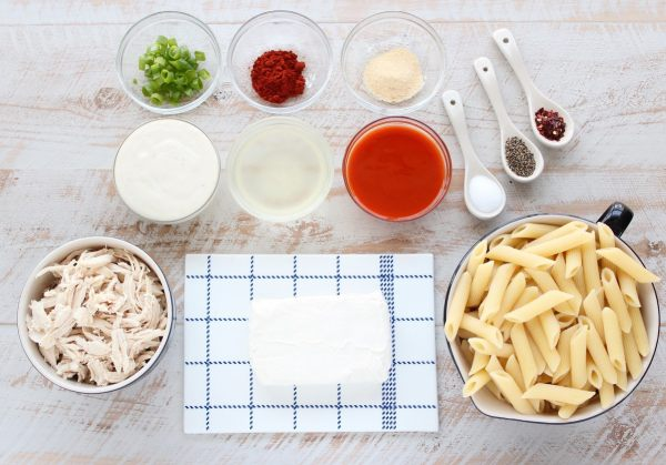 Buffalo Chicken Cheesy Penne Ingredients
