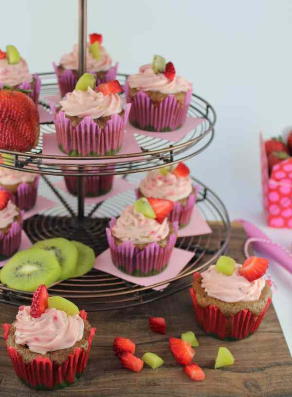 Strawberry Kiwi Cupcake Tower