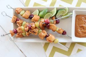 PB&J Chicken Skewers