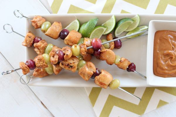 PB&J Chicken Skewer Recipe
