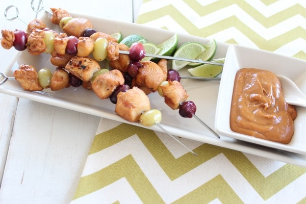 Peanut Butter and Jelly Chicken Skewer Recipe