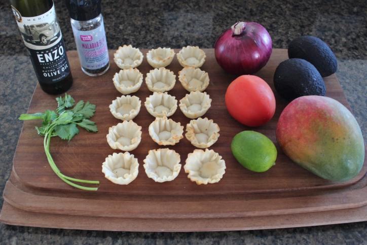 Mango Avocado Fillo Basket Ingredients