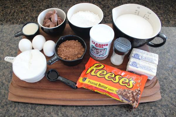 Double Chocolate Peanut Butter Chip Brownie Ingredients