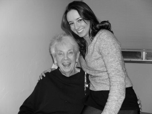 Whitney Bond with her Grandma Meme in 2010