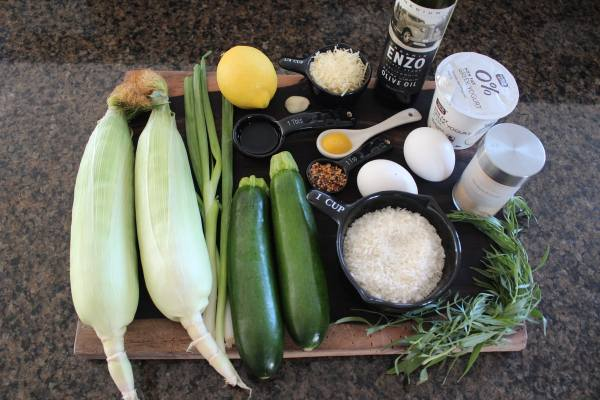 Zucchini Corn Cake Ingredients