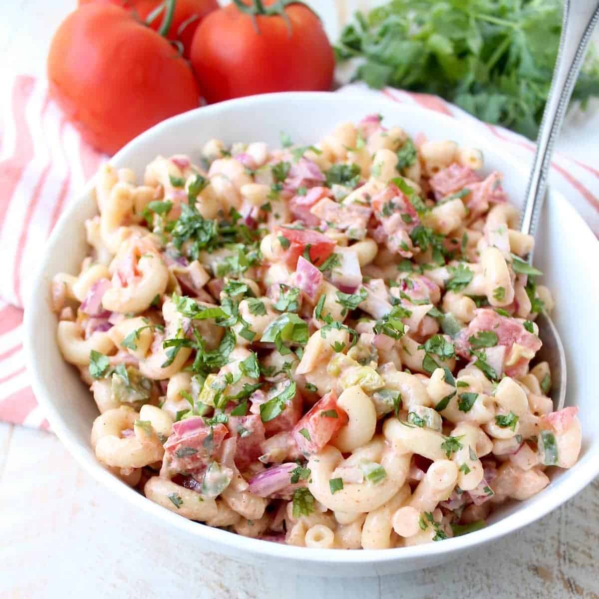 Spicy Buffalo Macaroni Salad