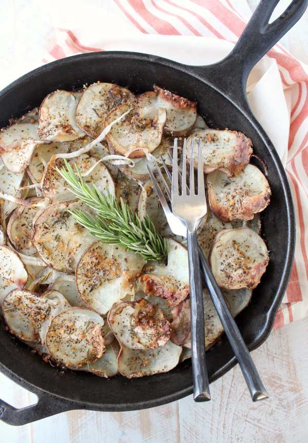 Cast Iron Skillet Rustic Potatoes Recipe
