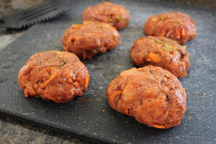Buffalo Chicken Burger Patties