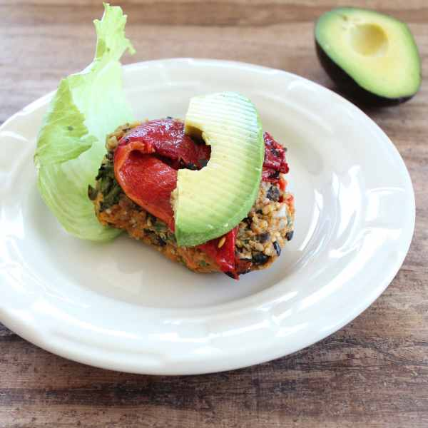 Black Bean Quinoa Burger with Avocado