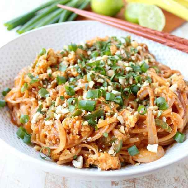 Spicy Vegetable Pad Thai