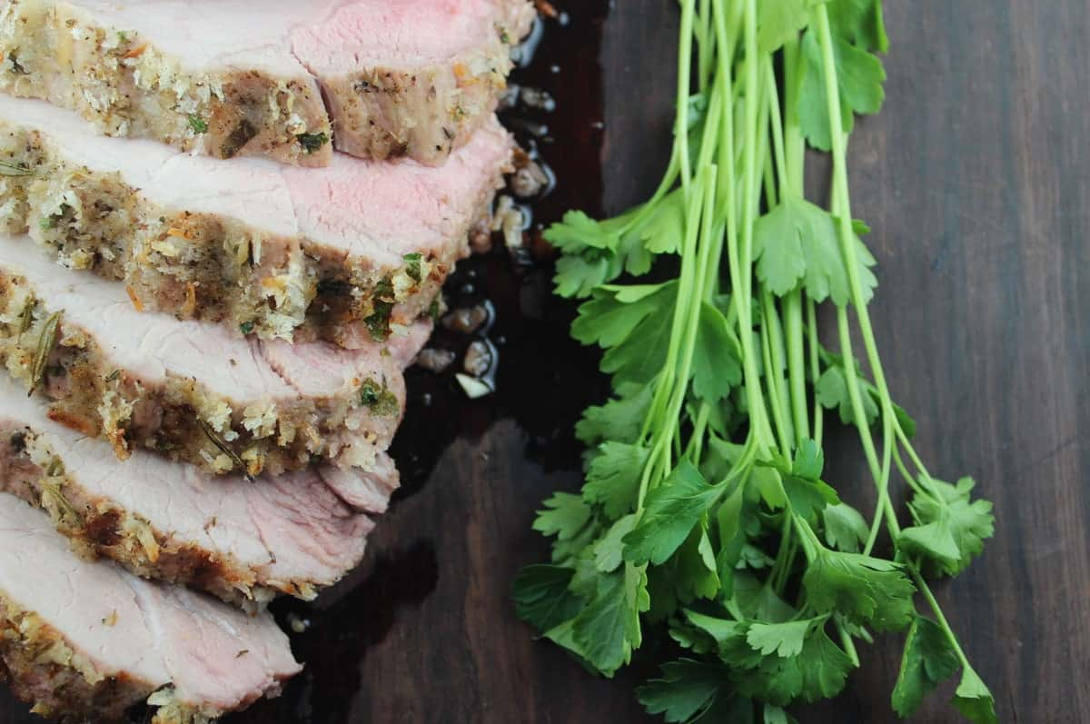 Parmesan crusted pork loin roast recipe