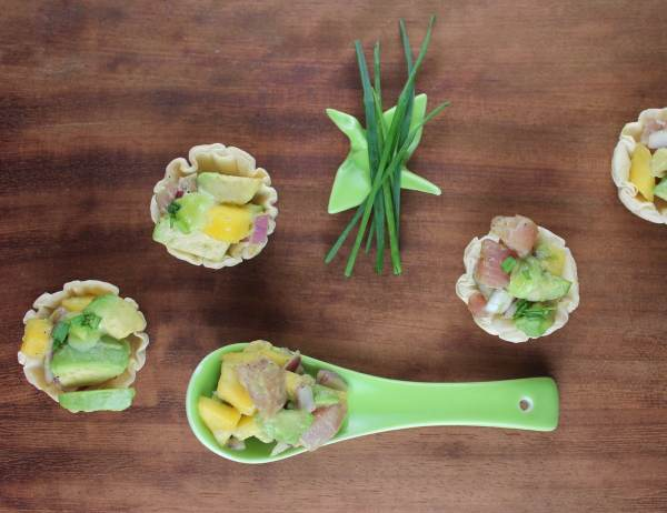 Ahi Avocado Poke Baskets