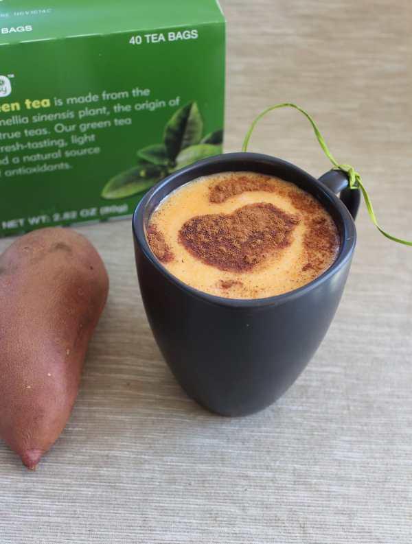 goguma latte, green tea latte, sweet potato latte, goguma green tea latte, sweet potato green tea latte, goguma latte recipe, allaboutcha goguma latte, korean goguma latte recipe, korean sweet potato latte, homemade goguma latte