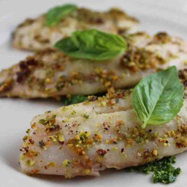 Pistachio Basil Crusted Tilapia