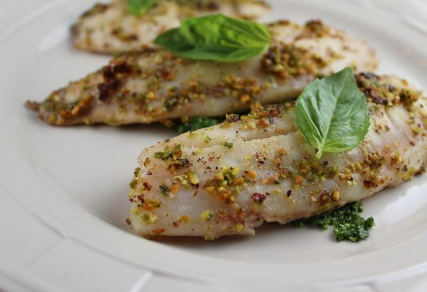 Gluten Free Pistachio Crusted Tilapia