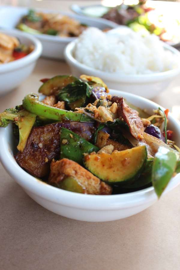 Thai Tofu and Eggplant