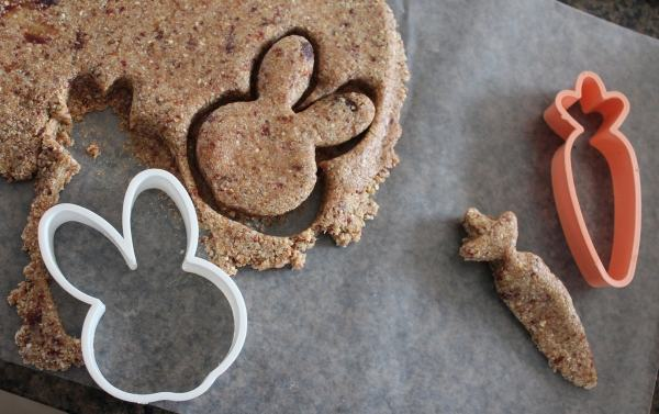 Easter Bunny Shaped Oatmeal Bars
