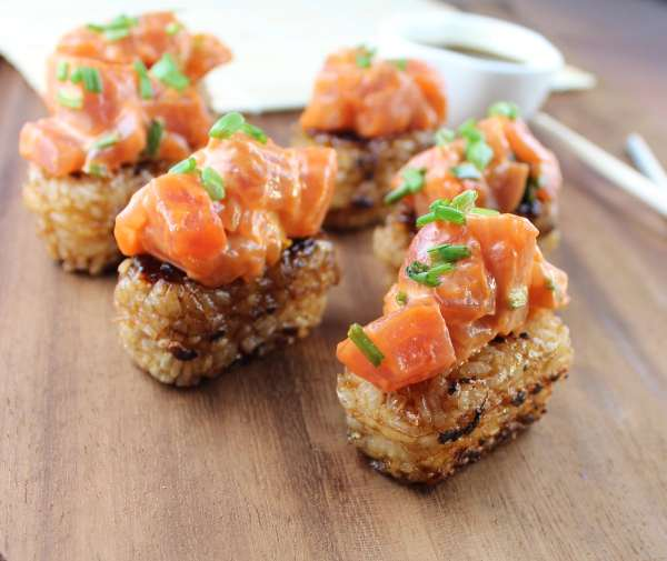 Spicy Tuna Rice Cakes Sushi Recipe