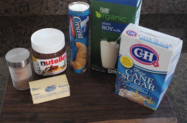 Nutella Cinnamon Roll Ingredients