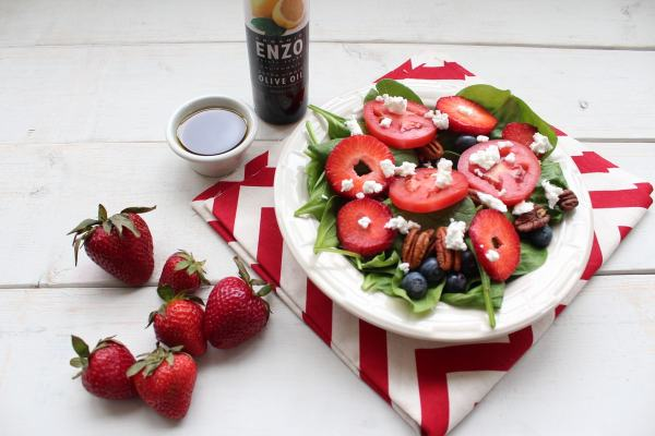 Strawberry Salad with Lemon Vinaigrette