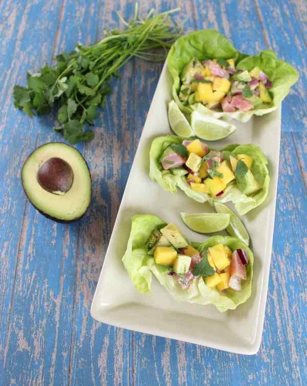 Mango Avocado Lettuce Wraps