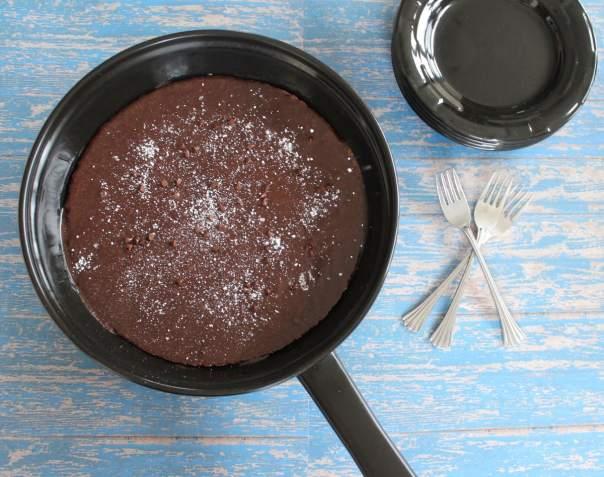 Nutella Chocolate Gluten Free Skillet Brownies