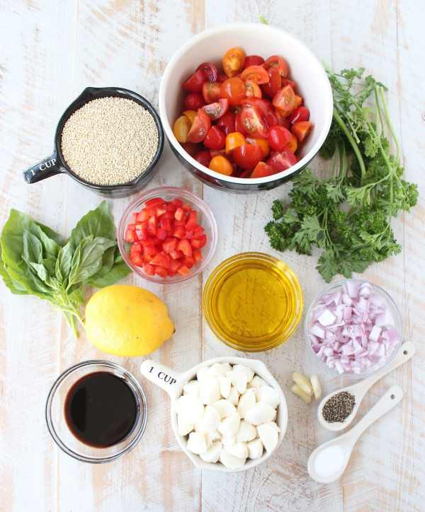 Quinoa Caprese Salad Recipe Ingredients