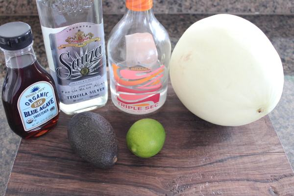 Avocado Honeydew Melon Margarita Ingredients