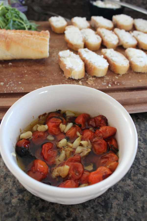 Roasted Tomato and Garlic Bruschetta Recipe