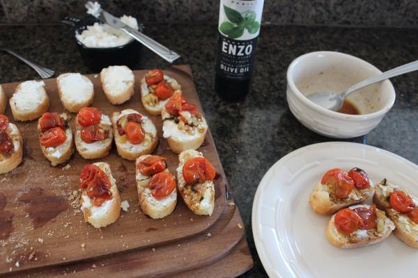 Roasted Tomato Ricotta Bruschetta Recipe
