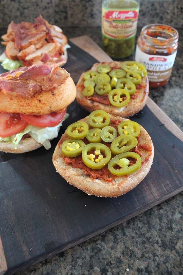 Grilled Chipotle Chicken BLT with Jalapeños